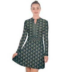 Texture Background Pattern Long Sleeve Panel Dress by Sapixe