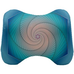 Decorative Background Blue Head Support Cushion