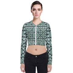 Pattern Graphics Figure Line Glass Zip Up Bomber Jacket