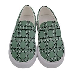 Pattern Graphics Figure Line Glass Women s Canvas Slip Ons