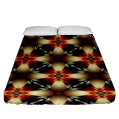 Kaleidoscope Image Background Fitted Sheet (king Size)