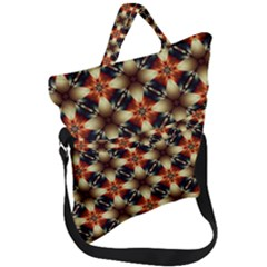 Kaleidoscope Image Background Fold Over Handle Tote Bag by Sapixe