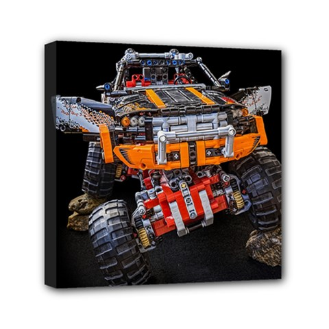 Monster Truck Lego Technic Technic Mini Canvas 6  X 6  (stretched) by Sapixe