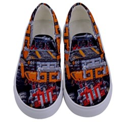 Monster Truck Lego Technic Technic Kids  Canvas Slip Ons