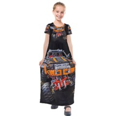 Monster Truck Lego Technic Technic Kids  Short Sleeve Maxi Dress by Sapixe