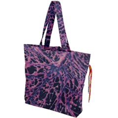 Fabric Textile Texture Macro Model Drawstring Tote Bag