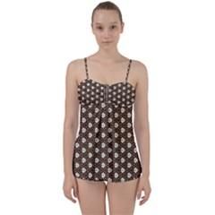 Texture Background Pattern Babydoll Tankini Set
