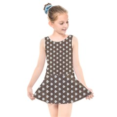 Texture Background Pattern Kids  Skater Dress Swimsuit