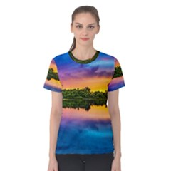 Sunset Color Evening Sky Evening Women s Cotton Tee by Sapixe