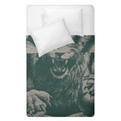 Angry Male Lion Pattern Graphics Kazakh Al Fabric Duvet Cover Double Side (single Size)
