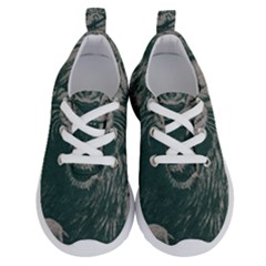 Angry Male Lion Pattern Graphics Kazakh Al Fabric Running Shoes