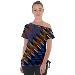 Colors Fabric Abstract Textile Tie Up Tee