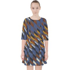 Colors Fabric Abstract Textile Pocket Dress by Sapixe