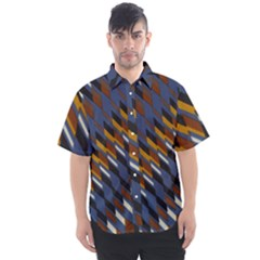 Colors Fabric Abstract Textile Men s Short Sleeve Shirt