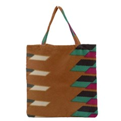 Fabric Textile Texture Abstract Grocery Tote Bag