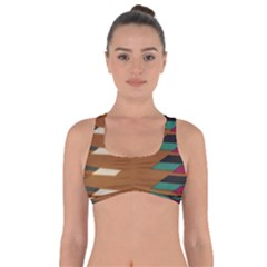 Fabric Textile Texture Abstract Got No Strings Sports Bra