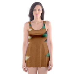 Fabric Textile Texture Abstract Skater Dress Swimsuit