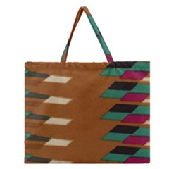 Fabric Textile Texture Abstract Zipper Large Tote Bag