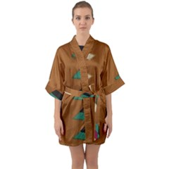 Fabric Textile Texture Abstract Quarter Sleeve Kimono Robe by Sapixe