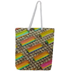 Colors Color Live Texture Macro Full Print Rope Handle Tote (large) by Sapixe