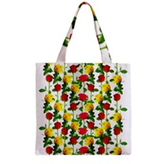Rose Pattern Roses Background Image Grocery Tote Bag