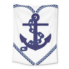 Anchor Chain Nautical Ocean Sea Medium Tapestry by Sapixe