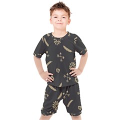 Pattern Seamless American Culture Kid s Set by Sapixe