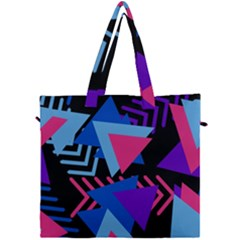 Memphis Pattern Geometric Abstract Canvas Travel Bag by Sapixe