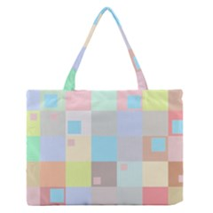 Pastel Diamonds Background Zipper Medium Tote Bag by Sapixe