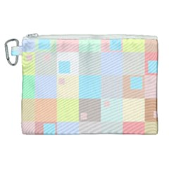 Pastel Diamonds Background Canvas Cosmetic Bag (xl)