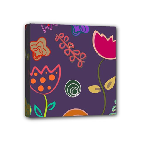 Background Decorative Floral Mini Canvas 4  X 4  (stretched) by Sapixe