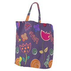 Background Decorative Floral Giant Grocery Tote by Sapixe