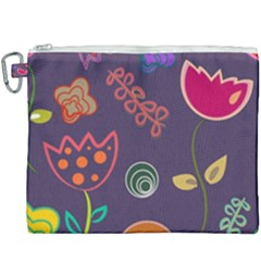 Background Decorative Floral Canvas Cosmetic Bag (xxxl) by Sapixe
