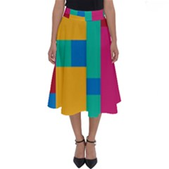 Background Abstract Perfect Length Midi Skirt