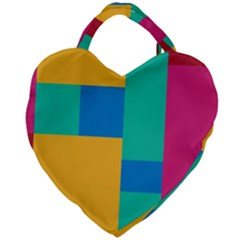 Background Abstract Giant Heart Shaped Tote by Sapixe