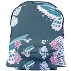 Butterfly Pattern Dead Death Rose Giant Full Print Backpack by Sapixe