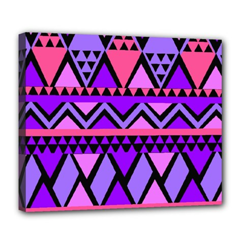Seamless Purple Pink Pattern Deluxe Canvas 24  X 20  (stretched)