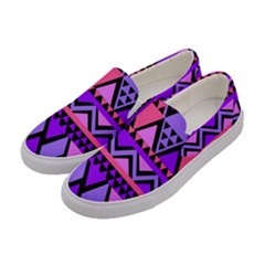 Seamless Purple Pink Pattern Women s Canvas Slip Ons by Sapixe