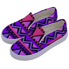 Seamless Purple Pink Pattern Kids  Canvas Slip Ons by Sapixe