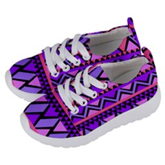 Seamless Purple Pink Pattern Kids  Lightweight Sports Shoes by Sapixe