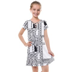 Seamless Pattern Texture Background Kids  Cross Web Dress