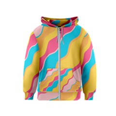 Cake Color Palette Painting Kids  Zipper Hoodie