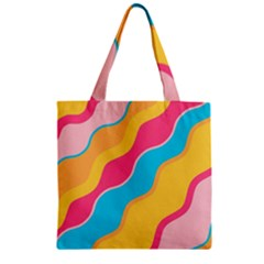 Cake Color Palette Painting Zipper Grocery Tote Bag by Sapixe