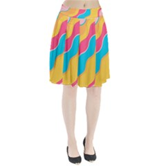 Cake Color Palette Painting Pleated Skirt