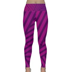 Pattern Lines Stripes Texture Lightweight Velour Classic Yoga Leggings