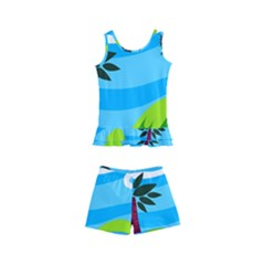 Landscape Background Nature Sky Kid s Boyleg Swimsuit