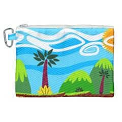 Landscape Background Nature Sky Canvas Cosmetic Bag (xl) by Sapixe
