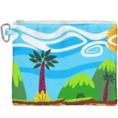 Landscape Background Nature Sky Canvas Cosmetic Bag (xxxl) by Sapixe