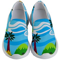 Landscape Background Nature Sky Kid s Lightweight Slip Ons by Sapixe