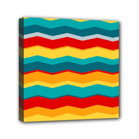 Retro Colors 60 Background Mini Canvas 6  X 6  (stretched) by Sapixe